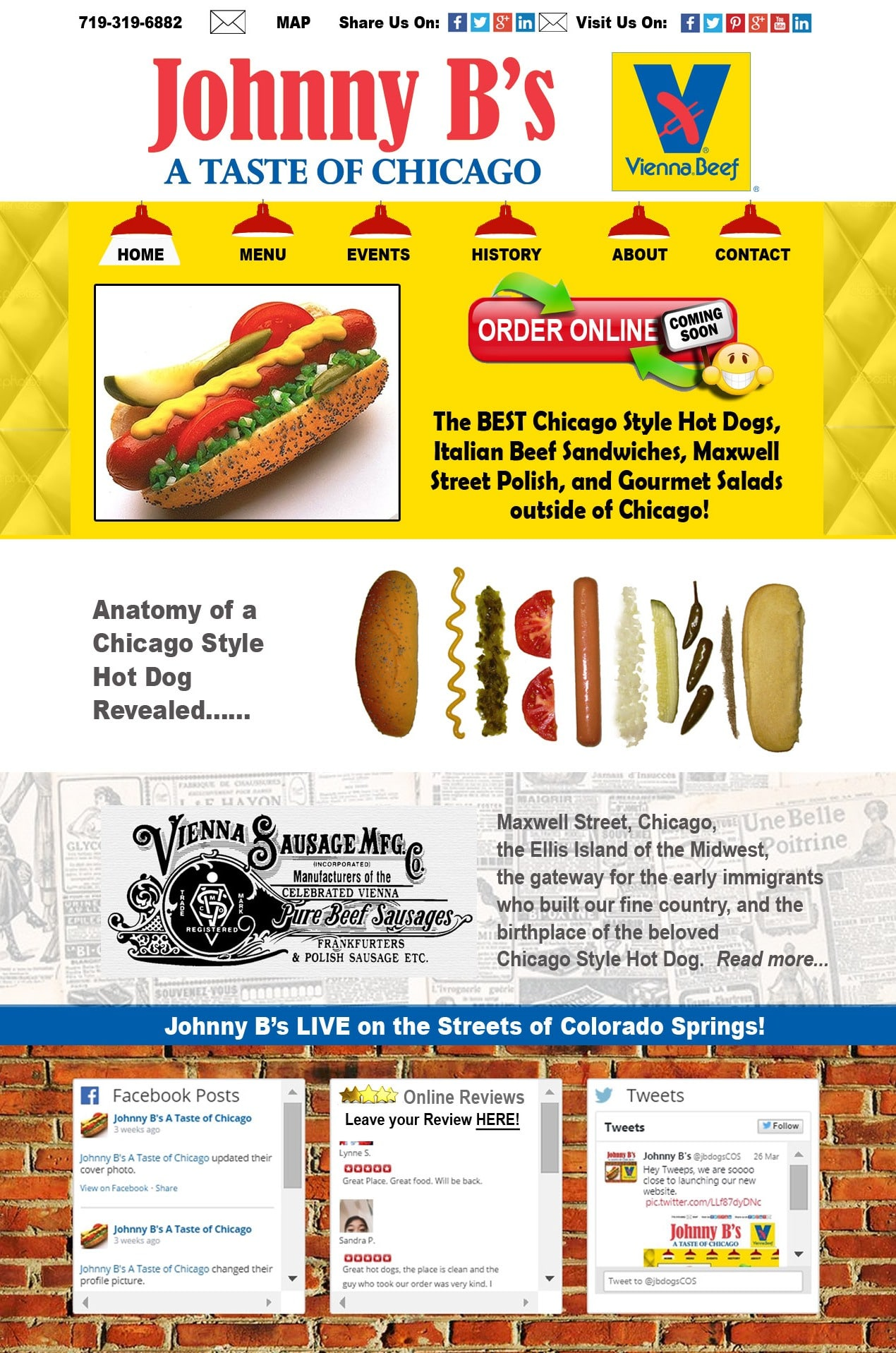 Johnny B's Chicago Style Hot Dogs